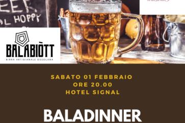 Baladinner, una cena a base di birra!